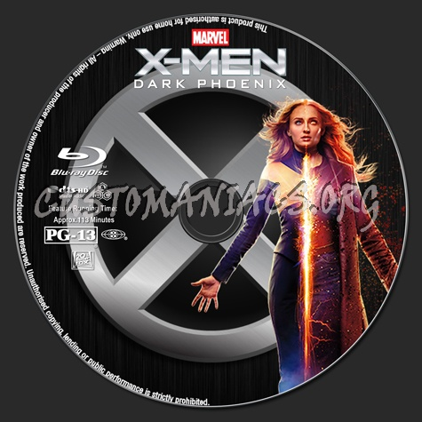 X-Men: Dark Phoenix blu-ray label