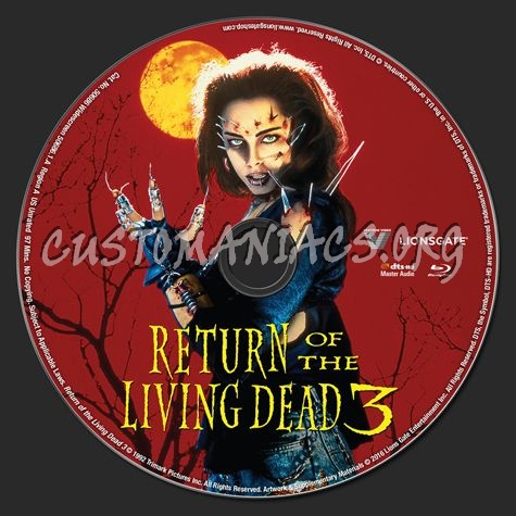 Return of the Living Dead 3 blu-ray label