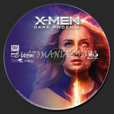 X Men Dark Phoenix blu-ray label