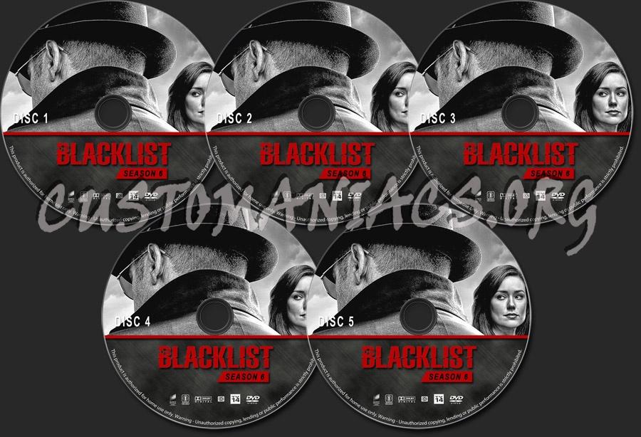 The Blacklist - Season 6 dvd label