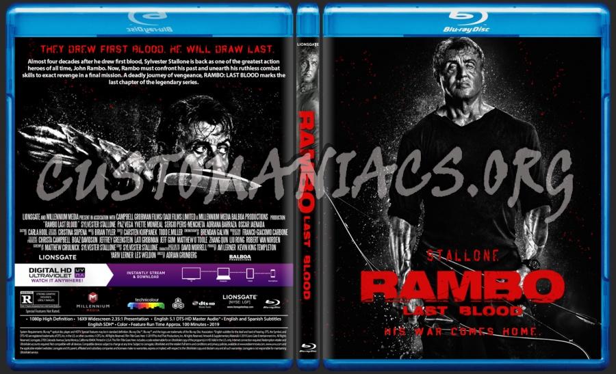Rambo Last Blood blu-ray cover
