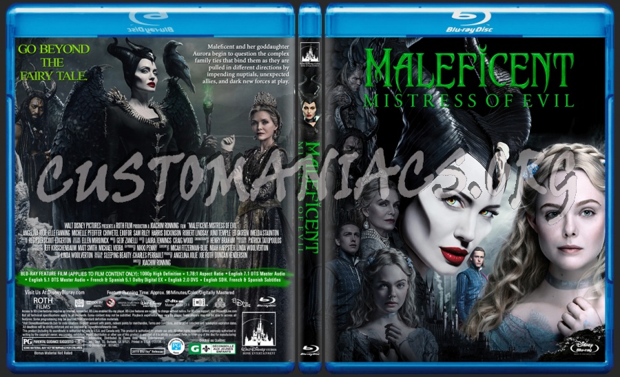 Maleficent Mistress Of Evil blu-ray cover