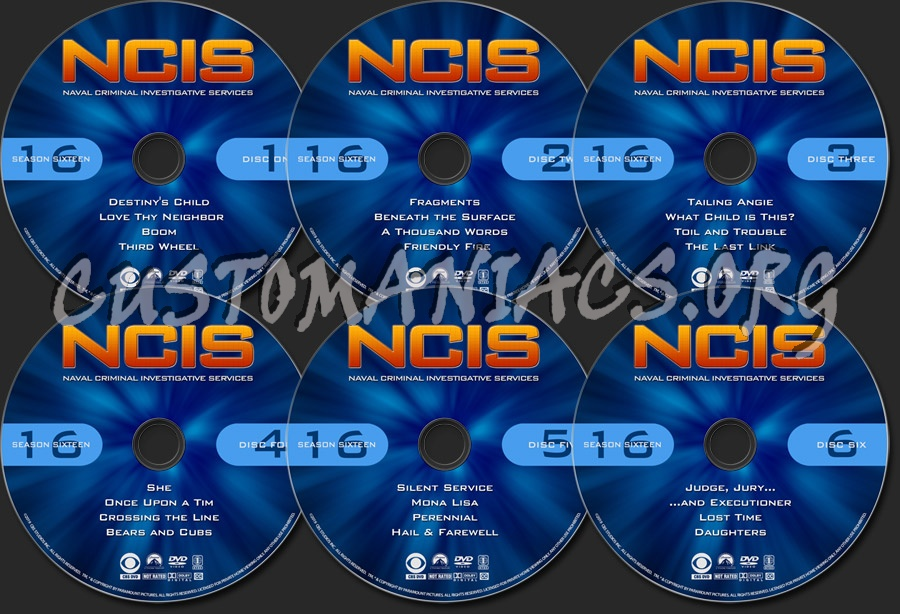 NCIS - Season 16 dvd label