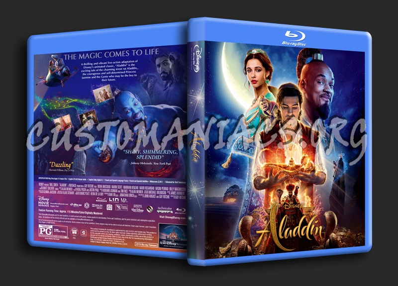 Aladdin 2019 blu-ray cover
