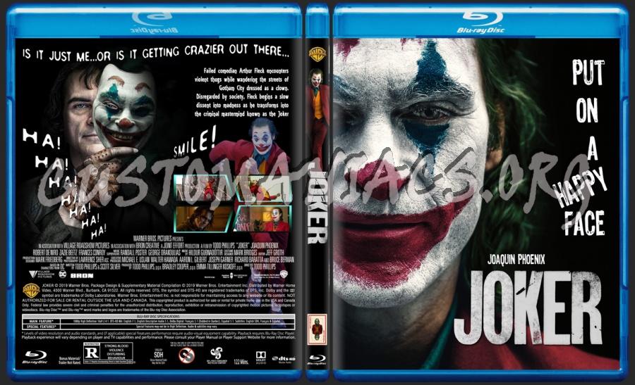 Joker 2019 blu-ray cover