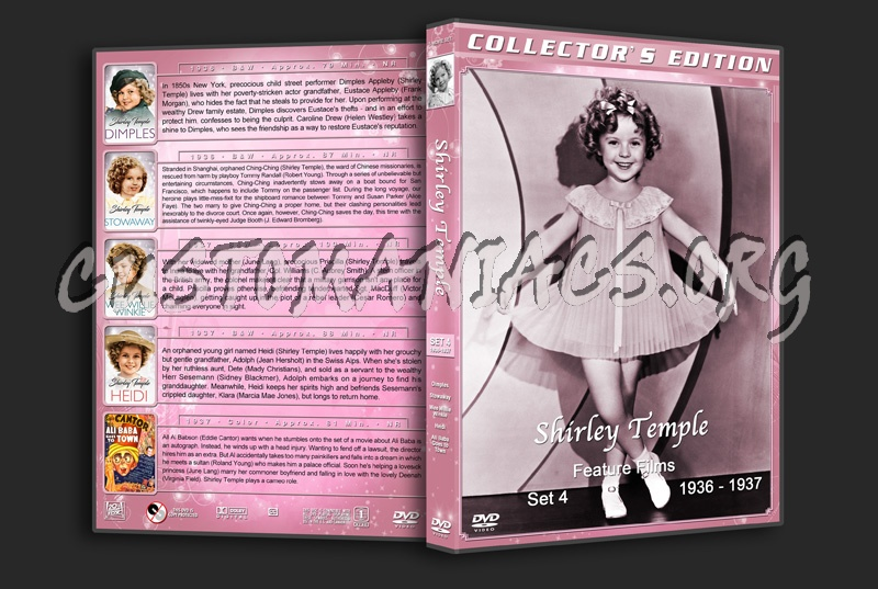 Shirley Temple: Feature Films - Set 4 (1936-1937) dvd cover
