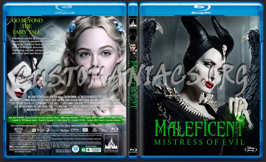 Maleficent: Mistress Of Evil (2019) blu-ray cover