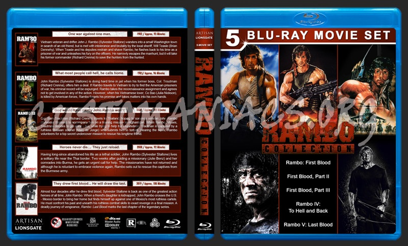 Rambo Collection (5) blu-ray cover