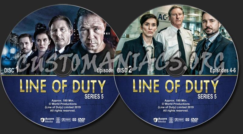 Line of Duty - Series 5 dvd label