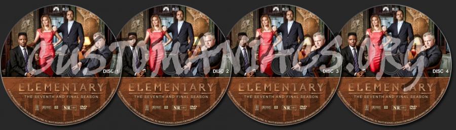 Elementary - Season 7 dvd label