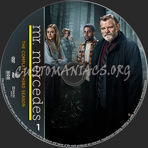 Mr Mercedes Season 3 dvd label