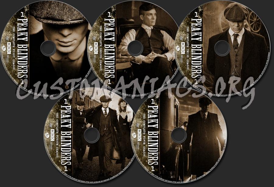 Peaky Blinders Seasons 1-5 dvd label
