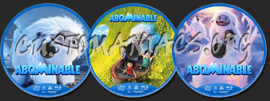 Abominable blu-ray label