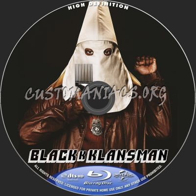 Blackkklansman blu-ray label