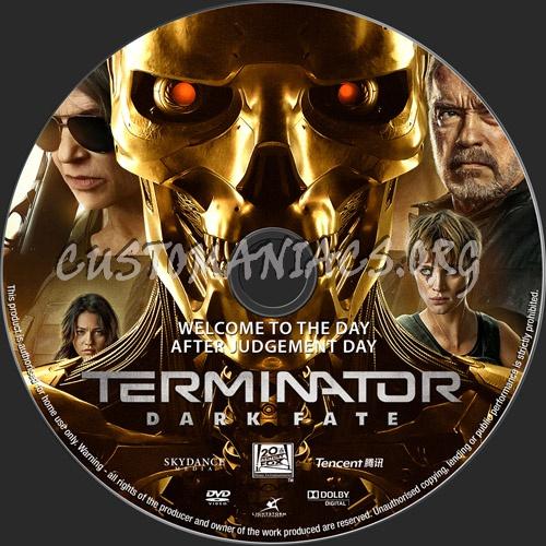 Terminator Dark Fate 2019 dvd label