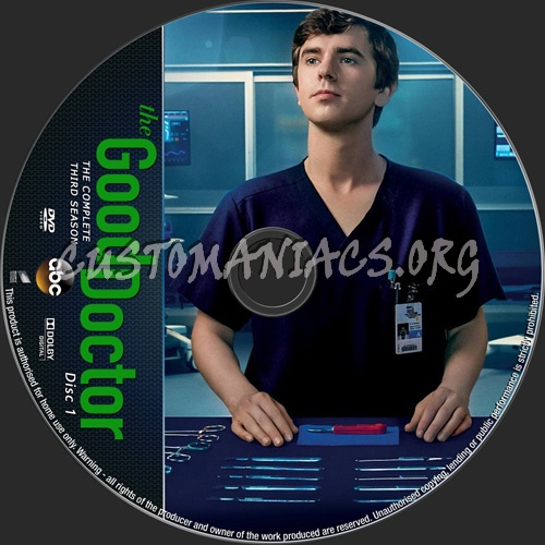 The Good Doctor Season 3 dvd label
