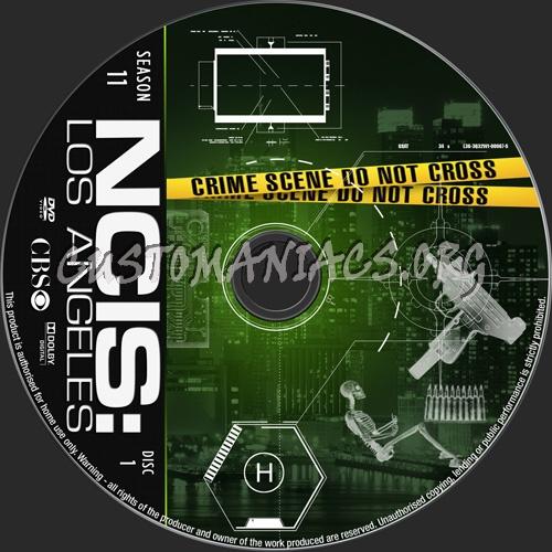 NCIS Los Angeles Season 11 dvd label