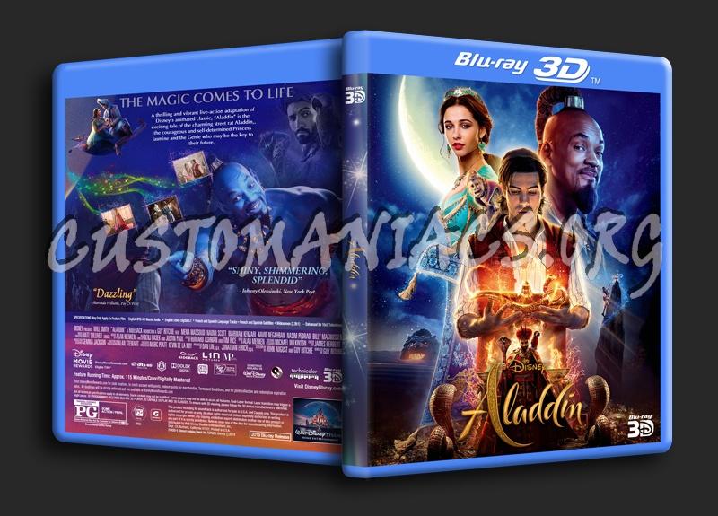 Aladdin 2019 3D blu-ray cover