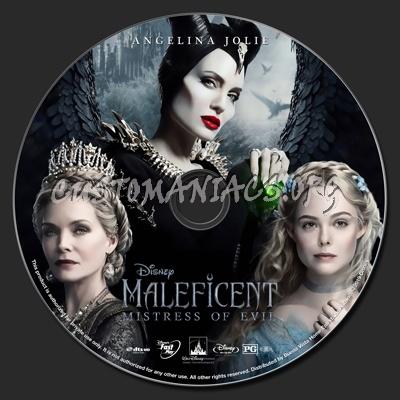 Maleficent: Mistress Of Evil (2D & 3D) blu-ray label