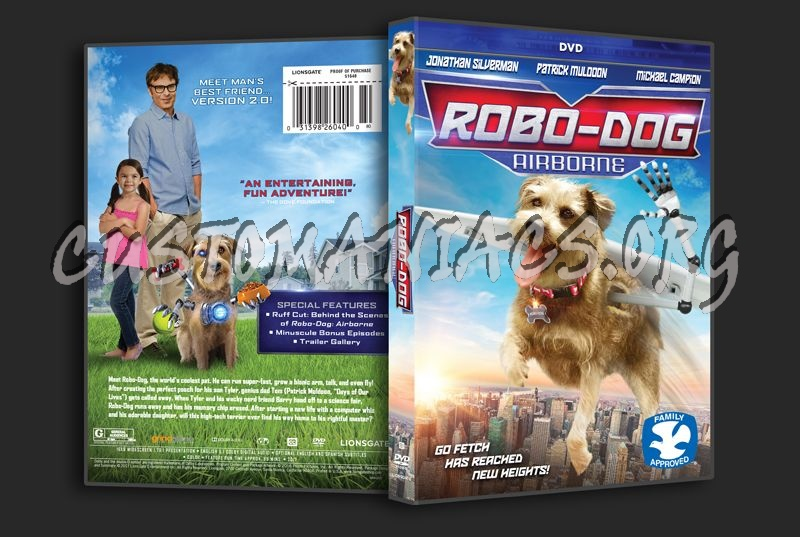 Robo-Dog Airborne dvd cover