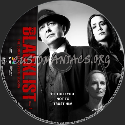 The Blacklist Season 7 dvd label
