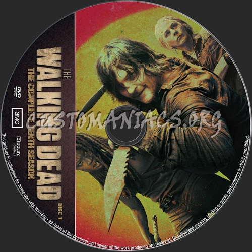 The Walking Dead Season 10 dvd label