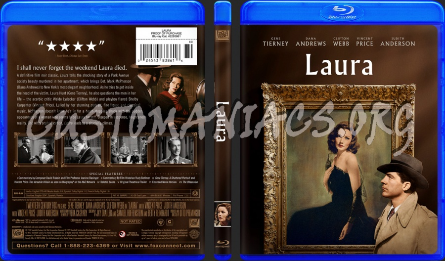 Laura (1944) blu-ray cover