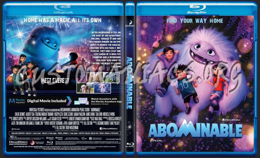 Abominable 2019 blu-ray cover