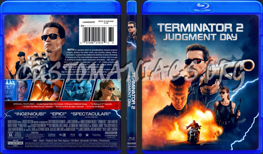 Terminator 2 Judgment Day 1991 Blu Ray Cover Dvd Covers Labels By Customaniacs Id 258981 Free Download Highres Blu Ray Cover