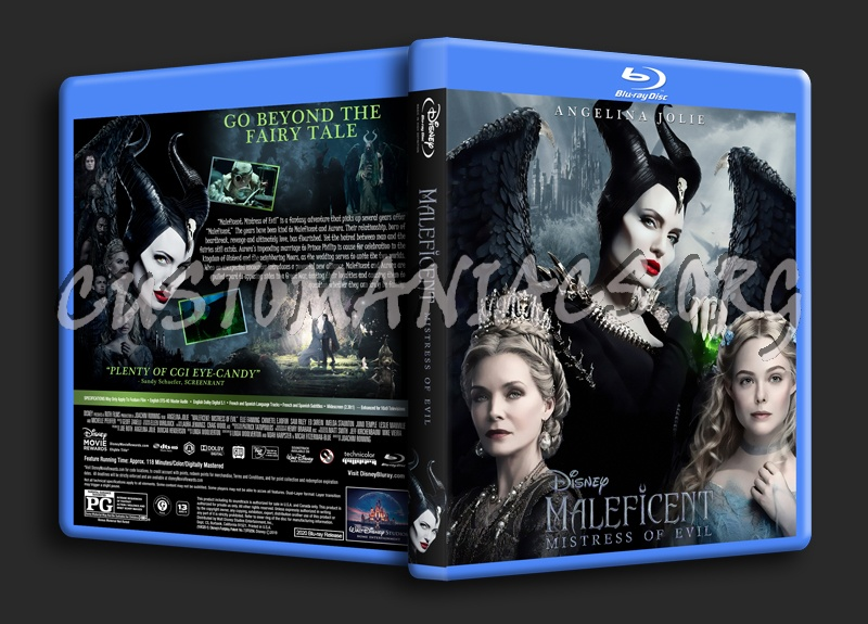 Maleficent: Mistress Of Evil blu-ray cover
