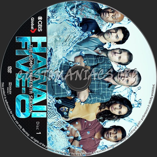 Hawaii Five-O Season 10 dvd label