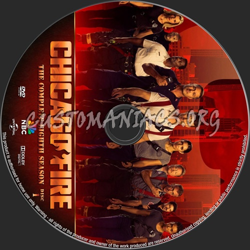 Chicago Fire Season 8 dvd label