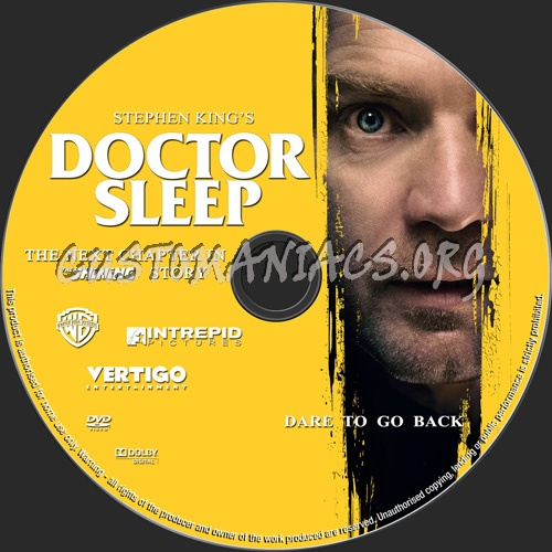 Doctor Sleep 2019 dvd label