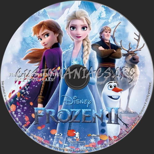 Frozen 2 blu-ray label