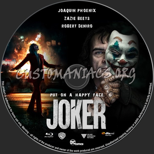 Joker 2019 blu-ray label