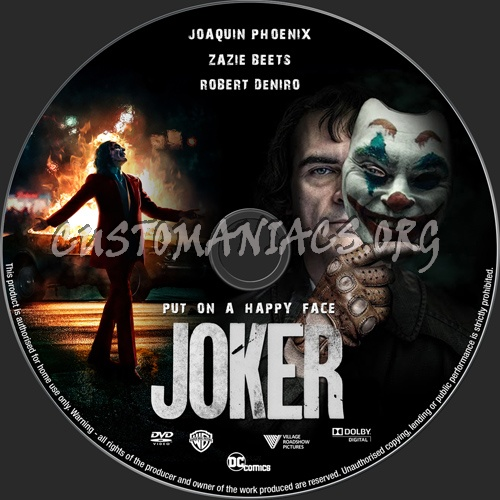 Joker 2019 dvd label