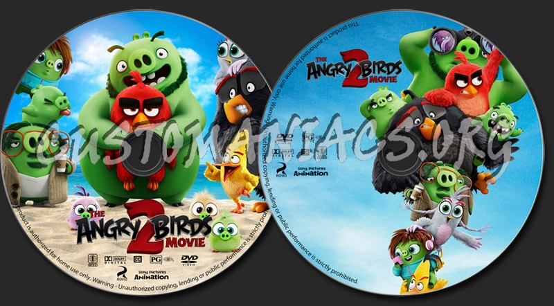 The Angry Birds Movie 2 dvd label