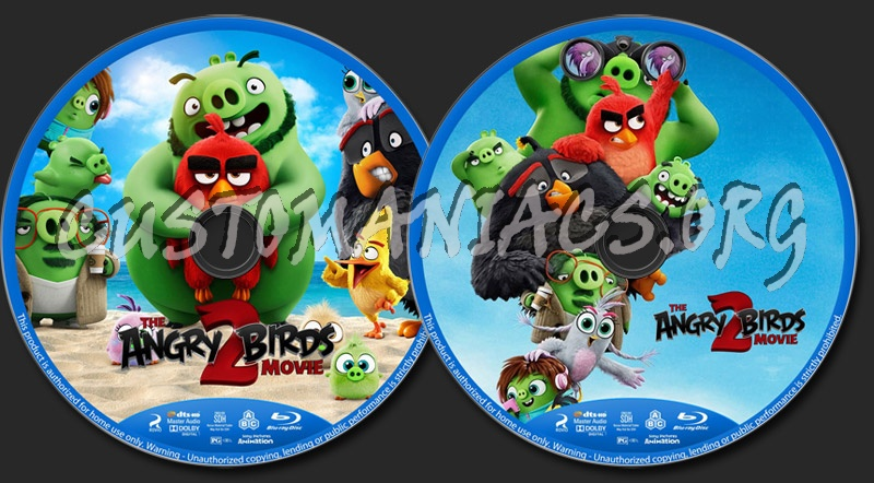The Angry Birds Movie 2 blu-ray label