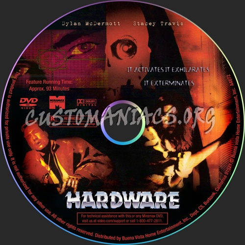 Hardware dvd label