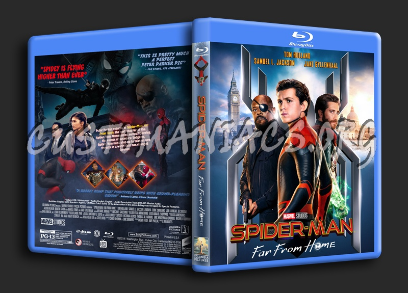 Spider-Man: Far From Home blu-ray cover
