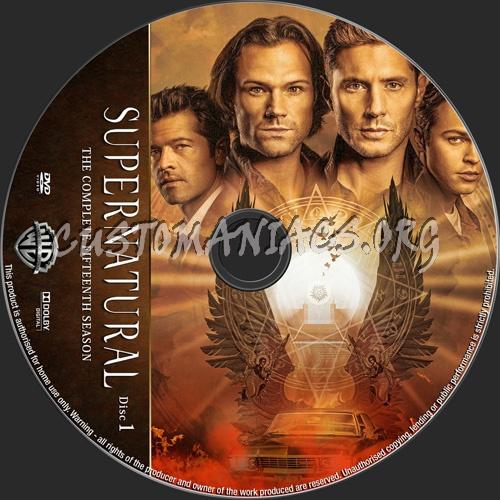Supernatural Season 15 dvd label