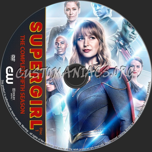 Supergirl Season 5 dvd label