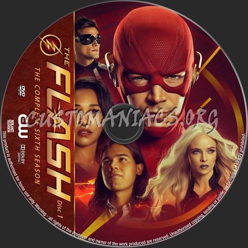 The Flash Season 6 dvd label