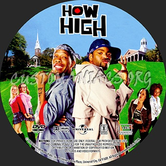How High dvd label