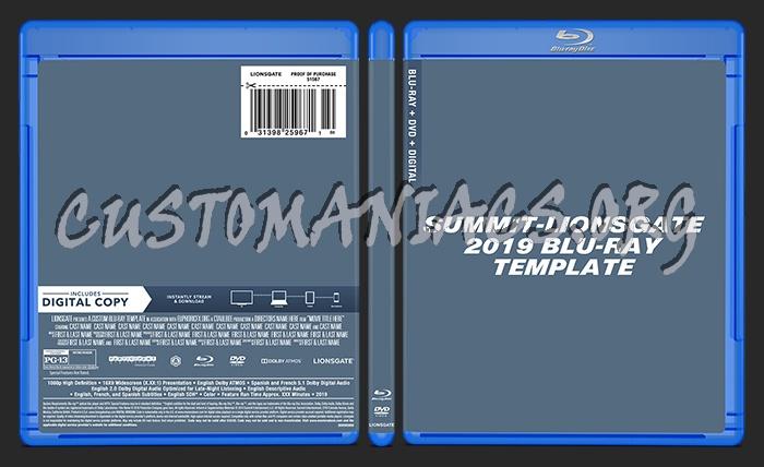 Summit - Lionsgate (2019) Blu-ray + DVD Template dvd label