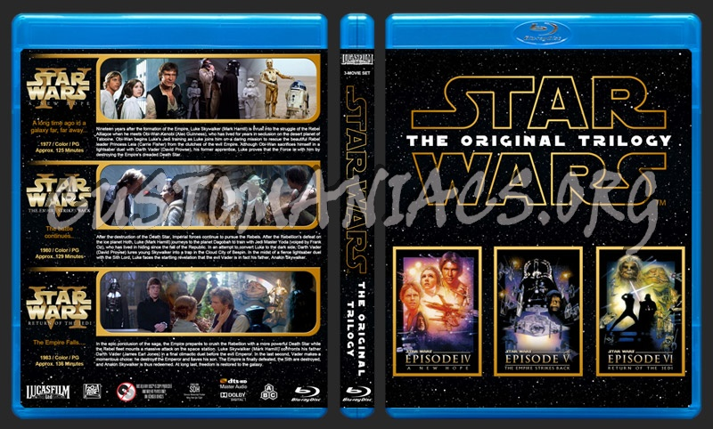Star Wars The Original Trilogy Blu Ray Cover Dvd Covers Labels By Customaniacs Id 259136 Free Download Highres Blu Ray Cover