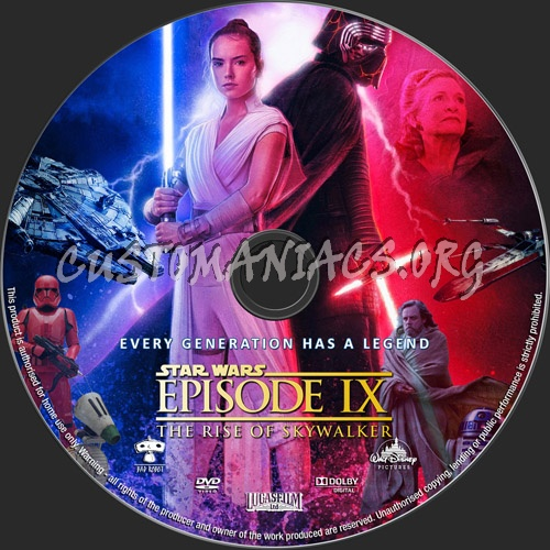 Star Wars The Rise Of Skywalker 2019 Dvd Label Dvd Covers Labels By Customaniacs Id 259156 Free Download Highres Dvd Label