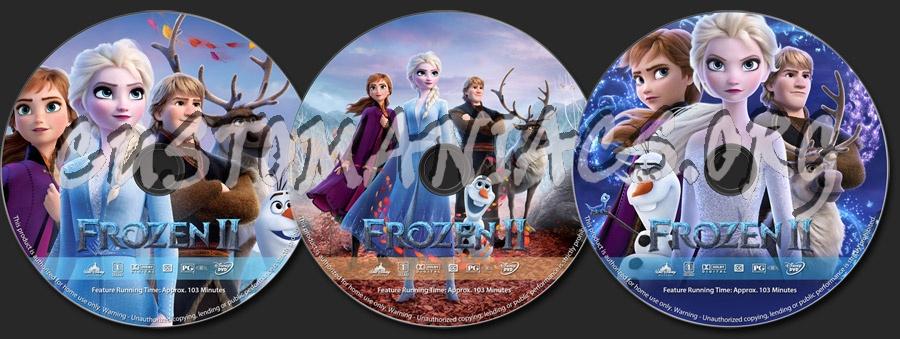 Frozen II dvd label