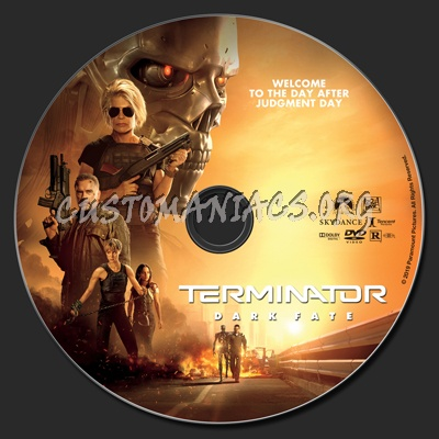 Terminator: Dark Fate dvd label