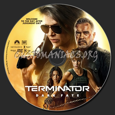 Terminator: Dark Fate dvd label